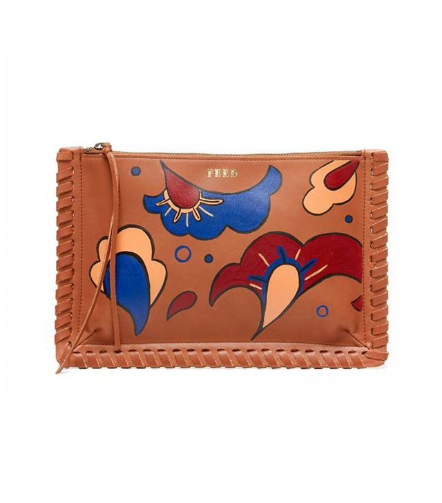 Feed Hand-Painted Rosa Clutch