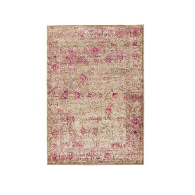 Temple & Webster Aisha Vintage Ziegler Rug Pink