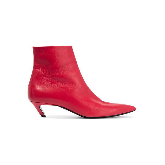 Balenciaga Slash Leather Ankle Boots