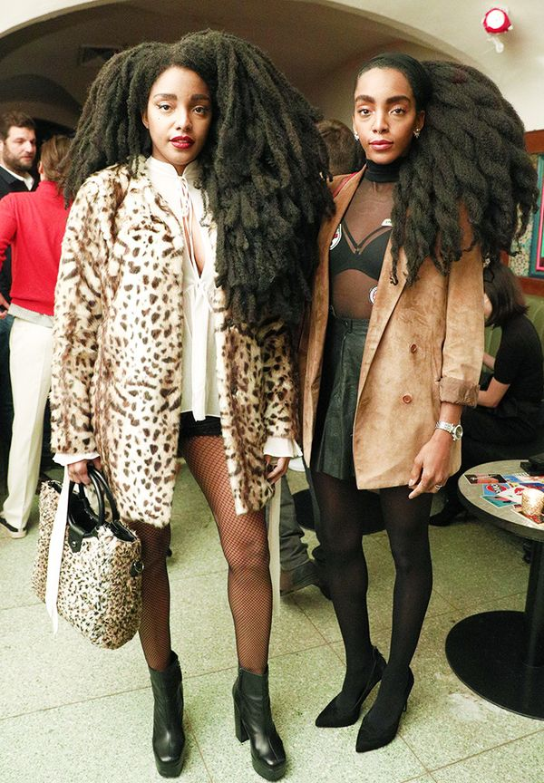 New York Fashion Week February 2017 Front Row: Cipriana Quann and TK Wonder.
