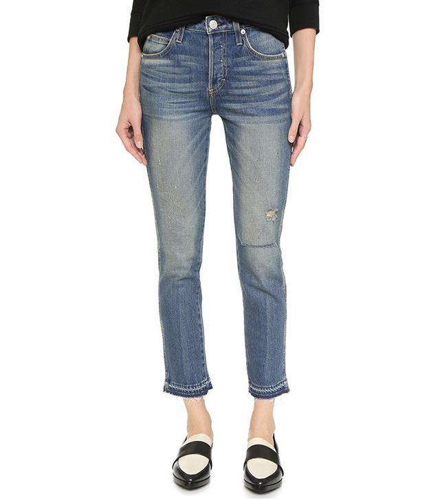 AMO Babe High Rise Cropped Slim Jean