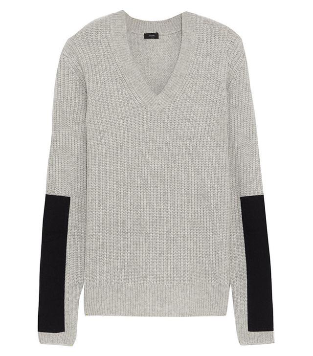 Joseph Twill-paneled Cashmere Sweater