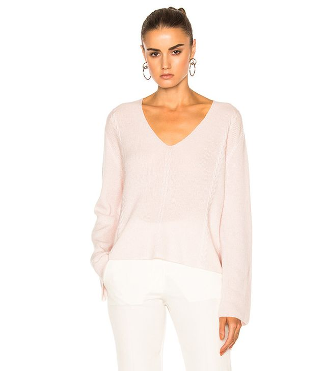 Ryan Roche V Neck Knit Sweater