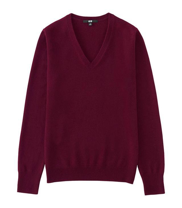 Uniqlo Cashmere V-Neck Sweater