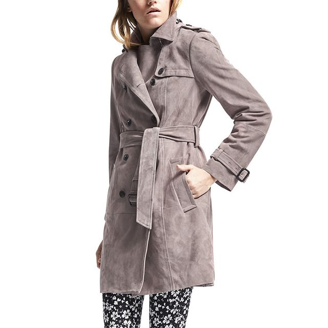 Banana Republic Classic Suede Trench