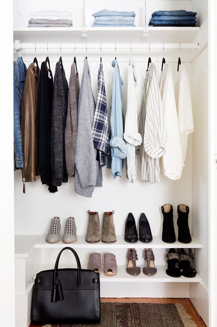 How To Actually Fit All Your Clothes In A Tiny Closet Who What Wear