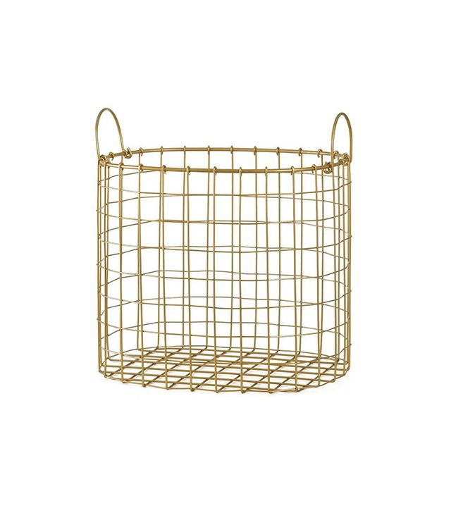 Room Essentials Decorative Gold Wire Bin