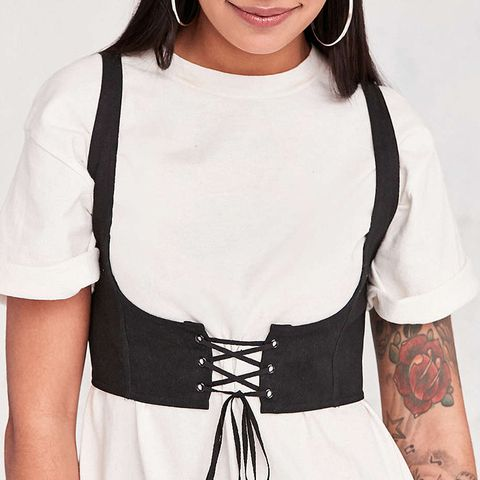 Cassidy Cropped Corset Vest