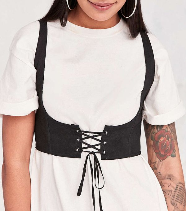 Silence + Noise Cassidy Cropped Corset Vest