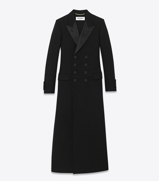 Saint Laurent Le Smoking Babydoll Caban Coat