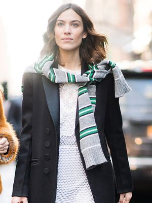 Alexa Chung Just Wore the Prettiest Dress to NYFW