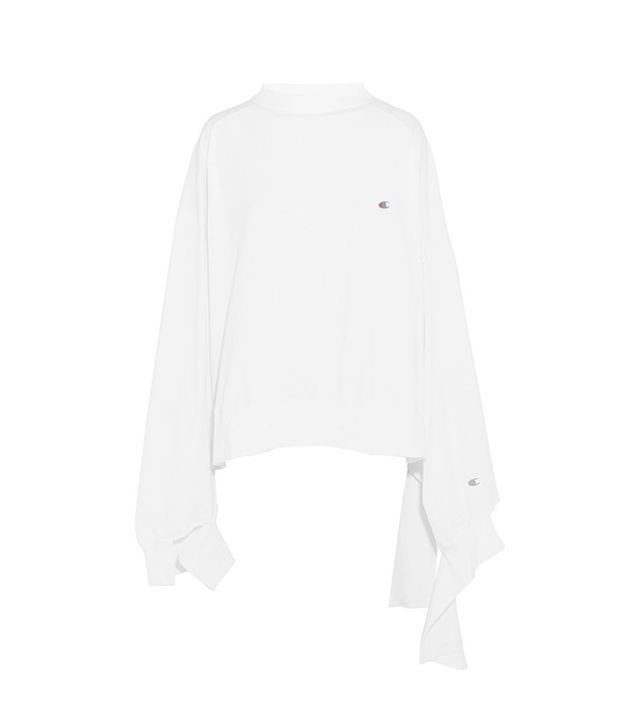 Vetements + Champion In Progress Oversized Cotton-Jersey Top