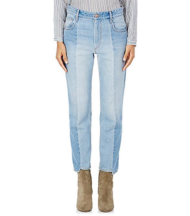 Étoile Isabel Marant Clancy Notched Crop Jeans