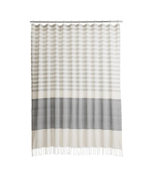 CB2 Karla Cement Shower Curtain