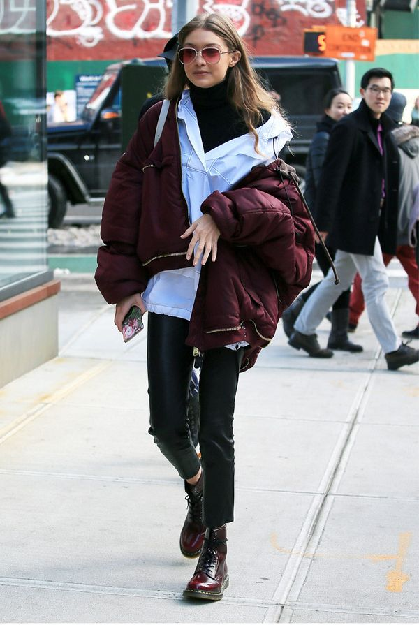 Gigi Hadid Wears Dr Martens Boots With Every Kind Of