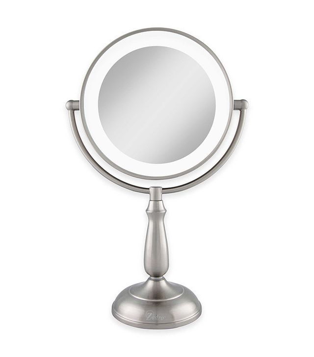 lighted makeup mirrors magnifying mirror reviews wall mounted double sided travel canada