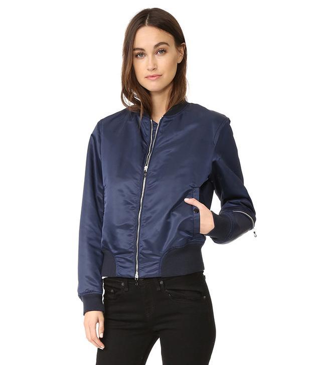 blue bomber jacket