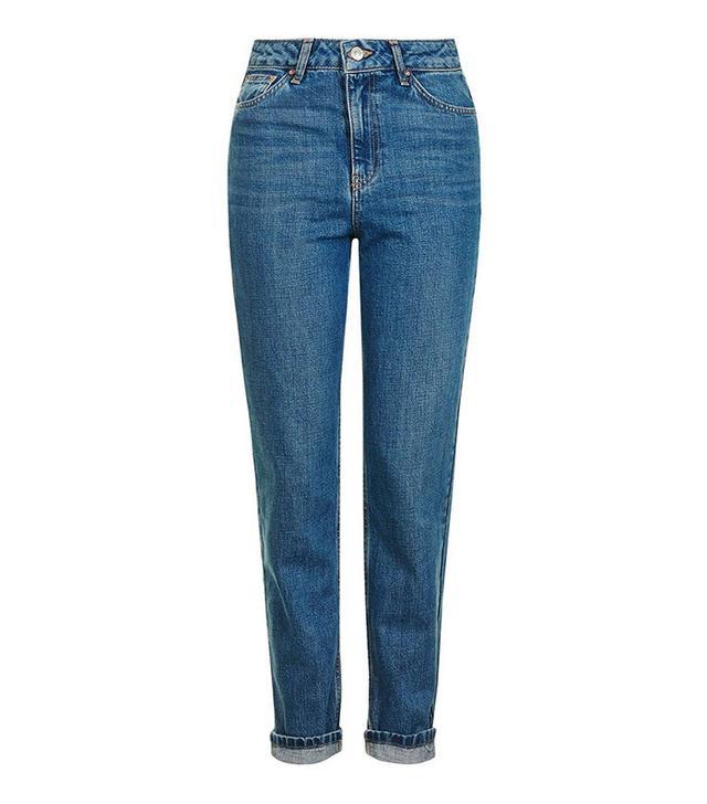 Topshop Moto Vintage Blue Mom Jeans