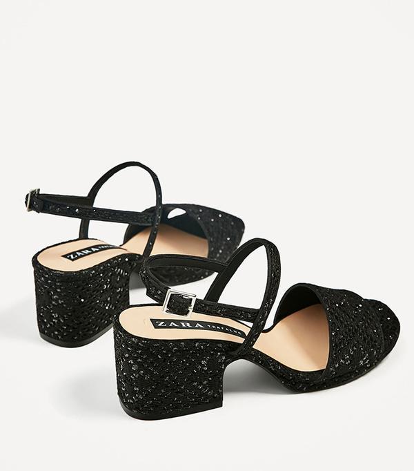 Zara Mid Heel Sandals