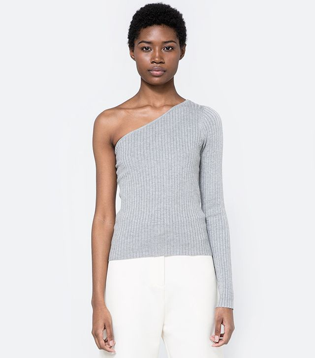 Which We Want One Sleeve Knit Top