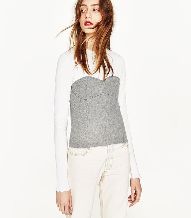 Zara Join Life Corset T-Shrit