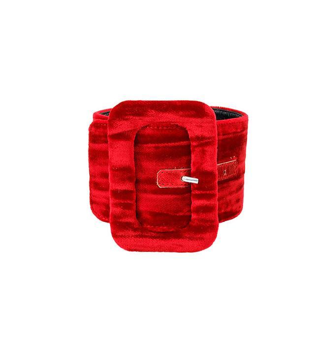 Attico Red Velvet Anklet