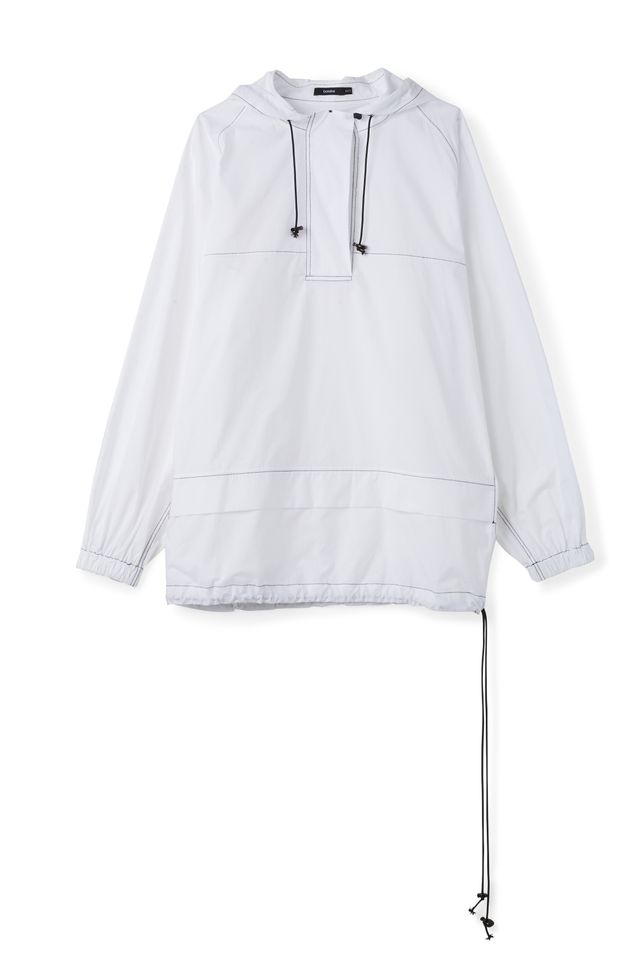 Bassike Cotton Athletic Hooded Anorak
