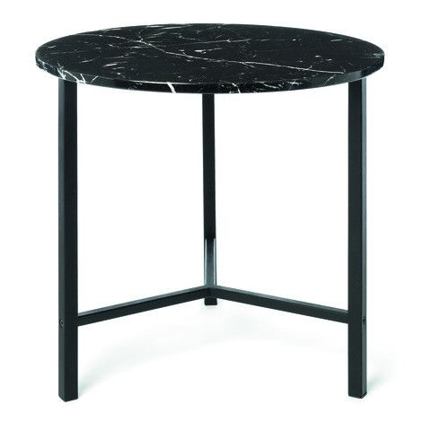 Kmart Marble Look Side Table - Black