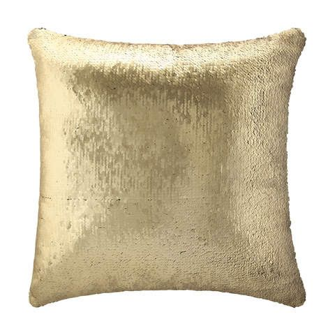 Kmart Sequin Cushion - Gold