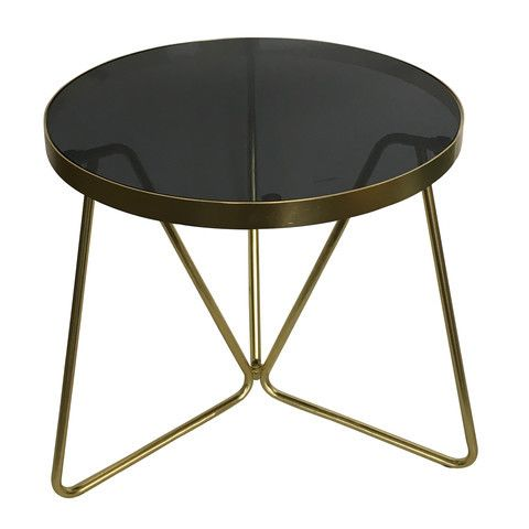 Side Table - Brass Look