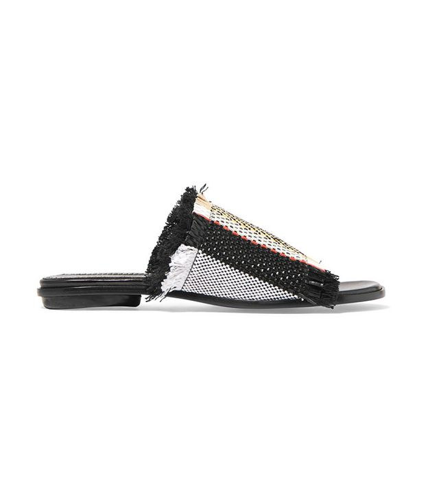 Proenza Schouler Woven Leather Slides