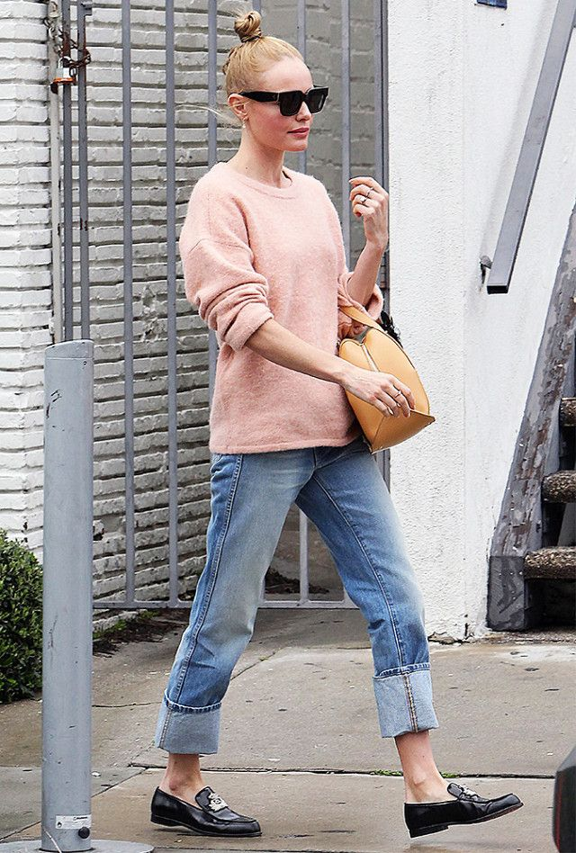 Kate Bosworth Relaxed Cropped Jeans