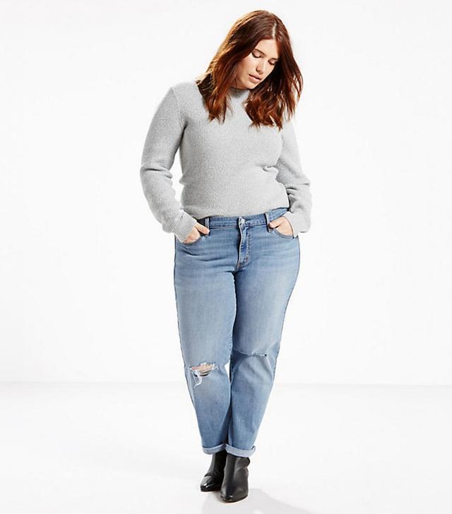 plus-size boyfriend jeans