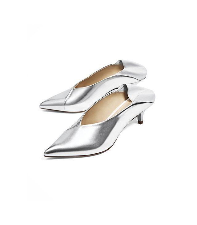 Zara V-Cut Heeled Shoes