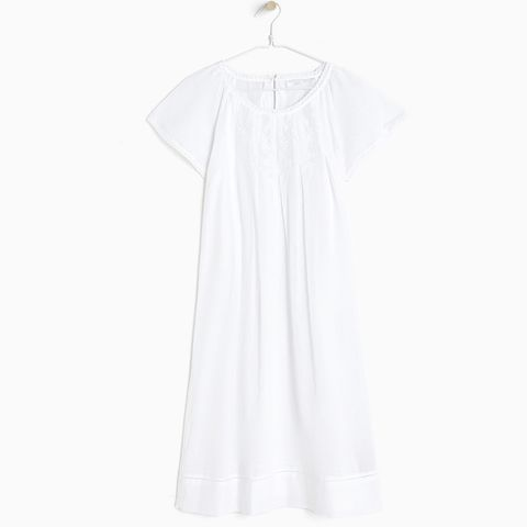 Cotton Nightdress With Embroidered Front