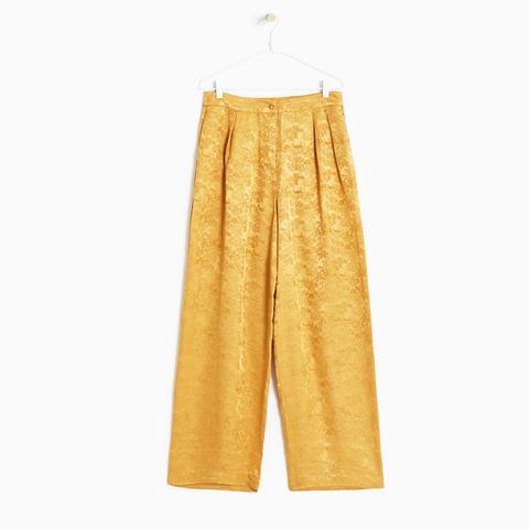 Tropical Print Silk Trousers