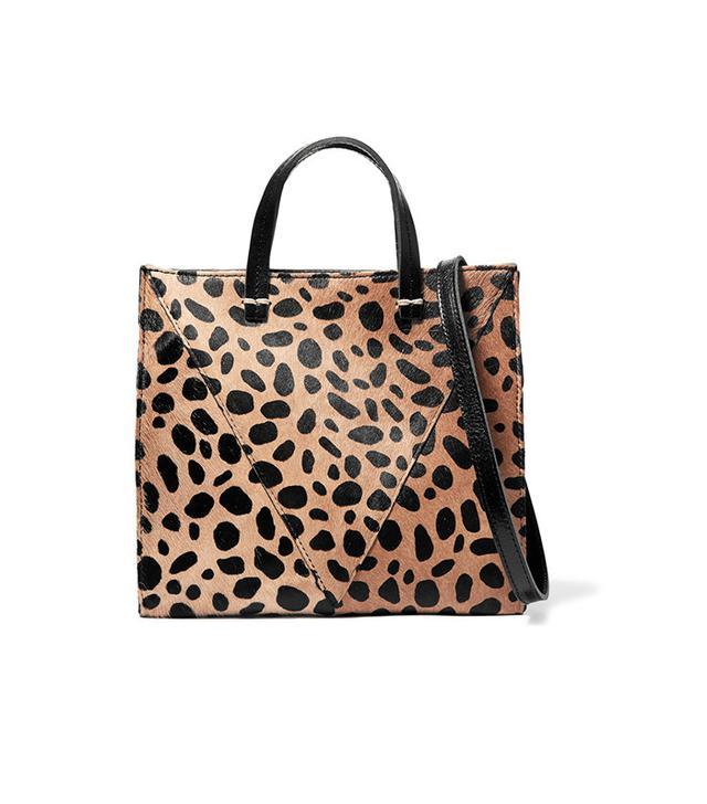 Clare V. Mini Leopard Print Bag