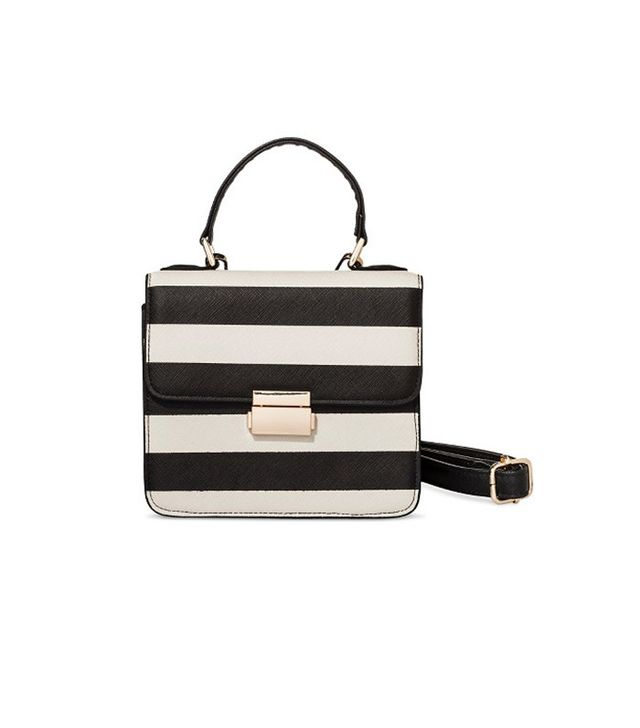 Who What Wear Striped Top Handle Bag