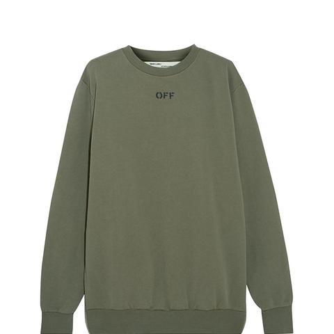 Distressed Washed Cotton-Jersey Sweatshirt