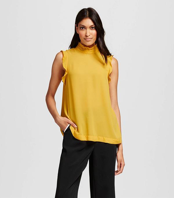 Who What Wear for Target Women's Ruffle Trim Shell