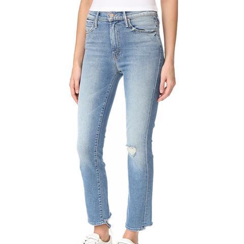 High Waist Rascal Ankle Jeans