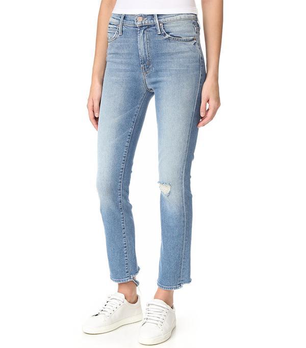 Mother High Waist Rascal Ankle Jeans