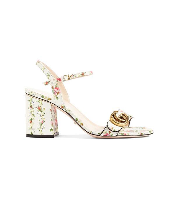 Gucci Marmont Block Heel Sandal