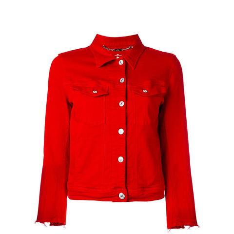 Raw Cuff Denim Jacket