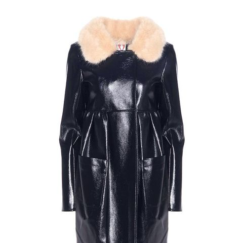 Locket Faux Leather Coat