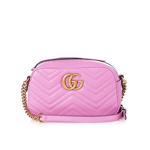 GG Marmont Small Quilted-Leather Cross-Body Bag