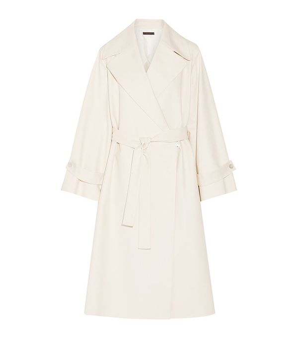 The Row Swells Oversized Stretch-Cotton Coat