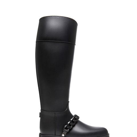 Eva Rain PVC Boots With Chain Detail