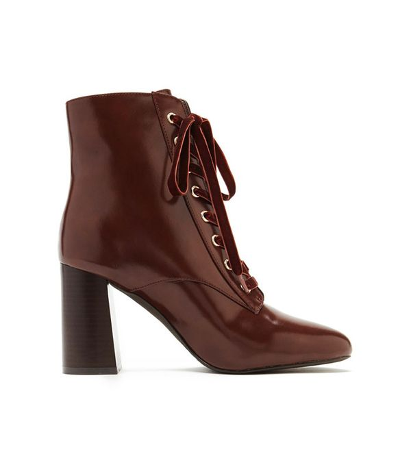 cheap lace-up ankle boots