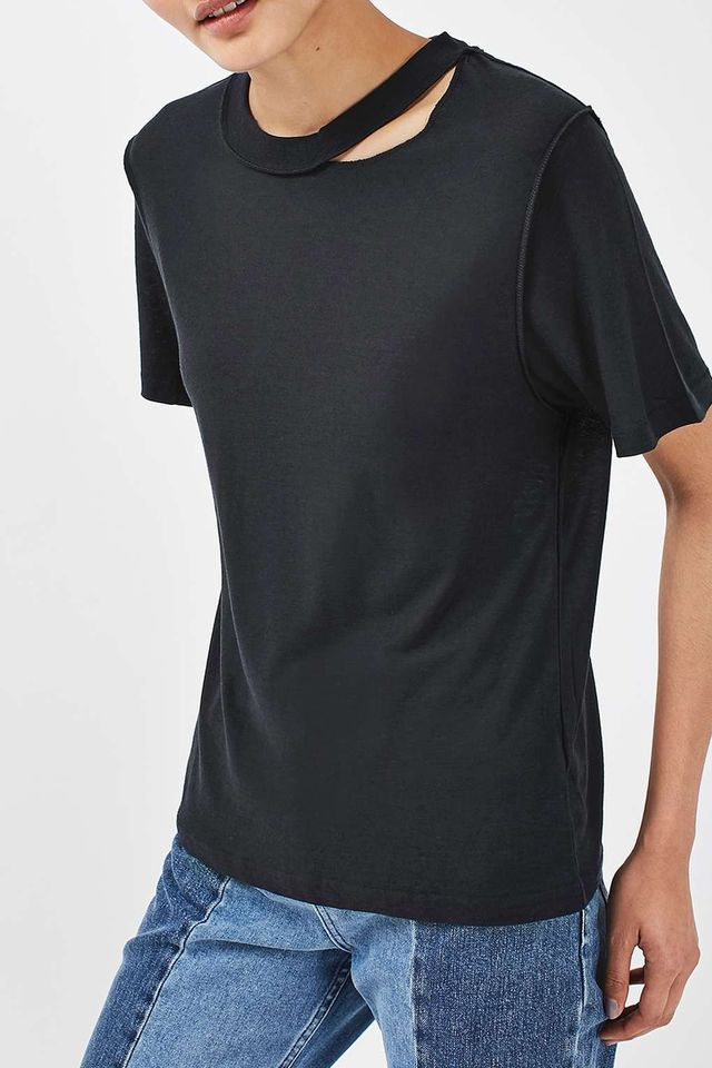Topshop Reverse Seam T-Shirt